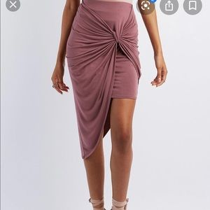 2/$17 🤑GREEN Asymmetrical Skirt